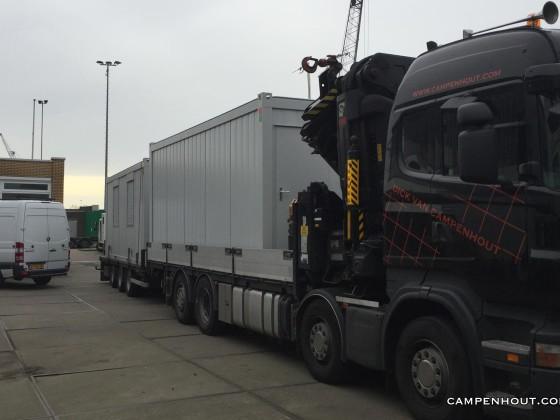 Transport op maat gemaakte unit